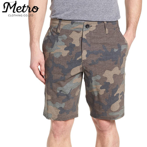 custom workout mens sports camo athletic chino cotton shorts