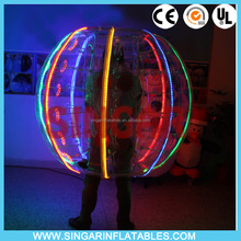 Amazing 100% PVC/TPU LED lighting bumper ball, LED glowing bubble football for sale cheap