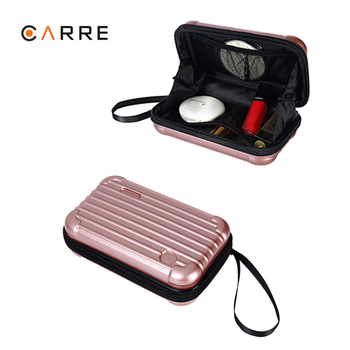 Factory Wholesale Custom Made Hard Shell Toiletry Mini Suitcase Travel Makeup Portable Case with Logo