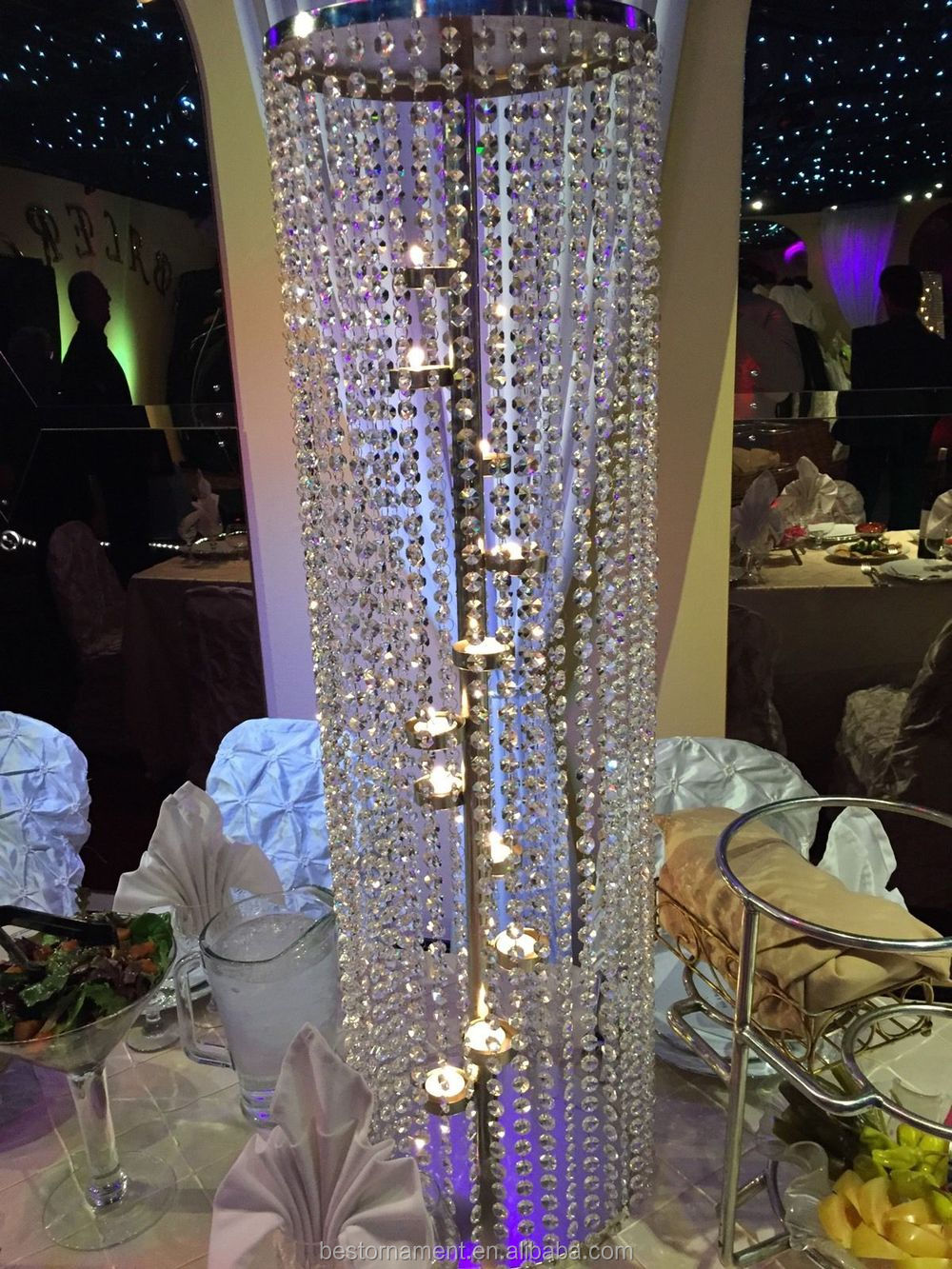 Wedding Crystal Pillars For Wedding Party Center Pieces