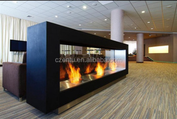 Convinient Outdoor Modern Freestanding Steel Ethanol Fireplace Mantel