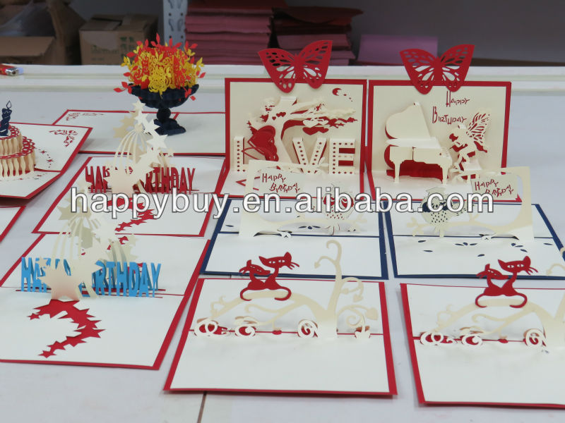 Lovely Kids 3d Handmade Pop Up Birthday Greeting Card