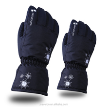 Womens/kids Thicken PU Palm Winter Ski Gloves