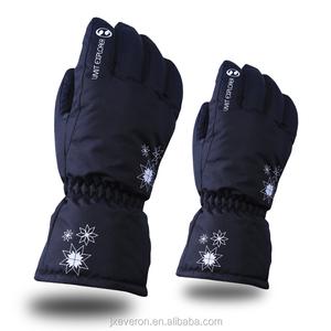 Womens/kids Thicken PU Palm Winter Ski Gloves