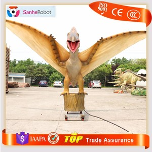 Park archaistic pterosaur toy decor robotic flying dinosaur toy statue