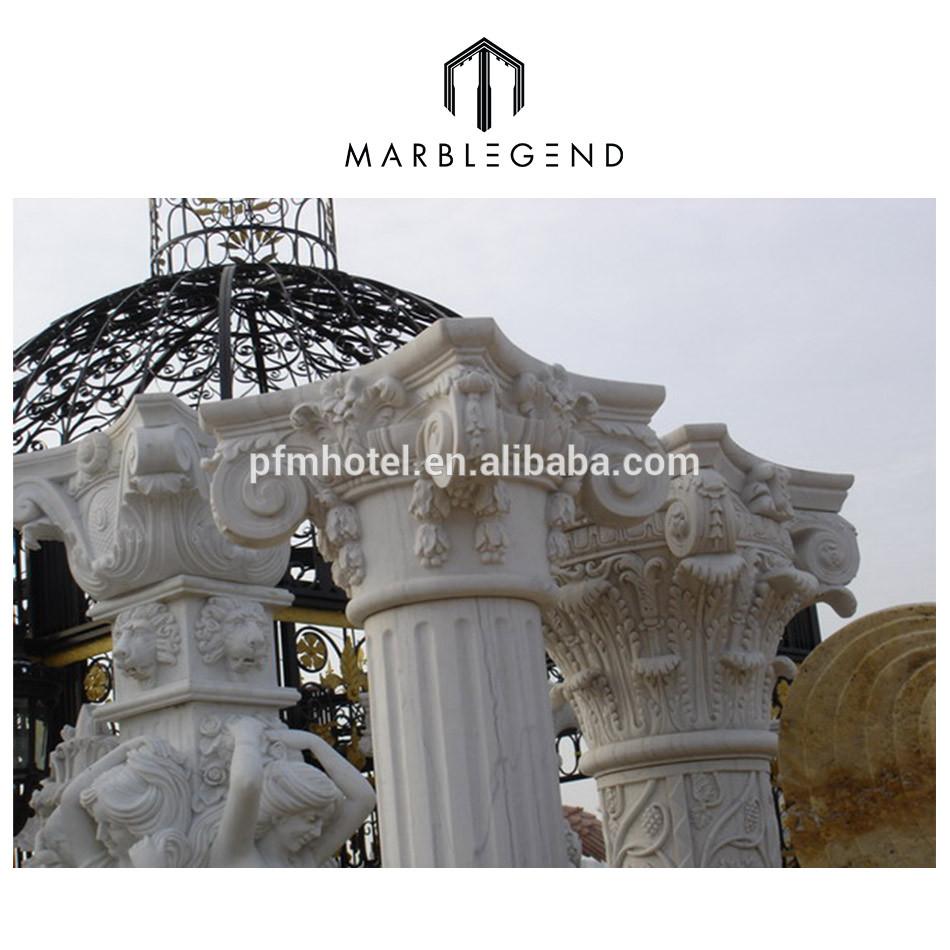 Interior and exterior decorative stone columns roman pillars
