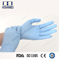 Medical/industrial use powder free disposable nitrile gloves