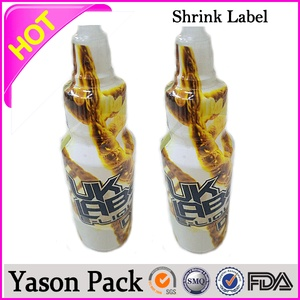 plastic PET shrink sleeve bands with perforation for bottle with your own logo