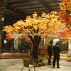 yellow artificial tree artificial autumn maple tree fall tree