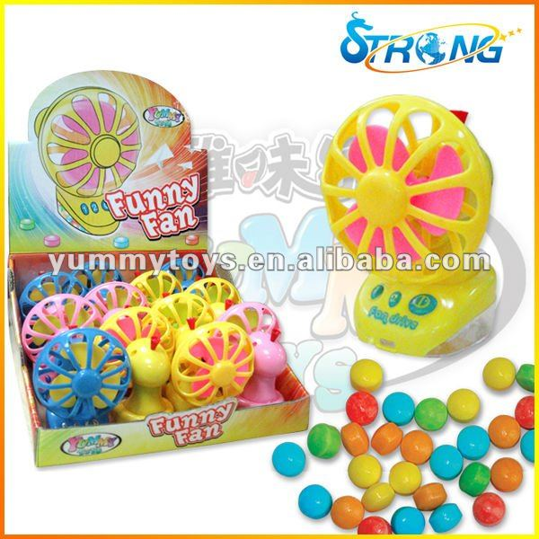 Small Fan Toys Candy With Pull Line