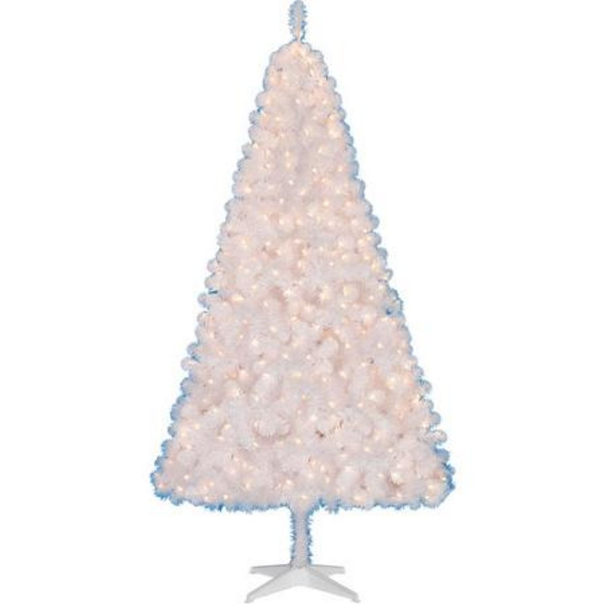 Pre-lit 6.5 Ft Madison Christmas Tree White Clear Lights by Holiday Time