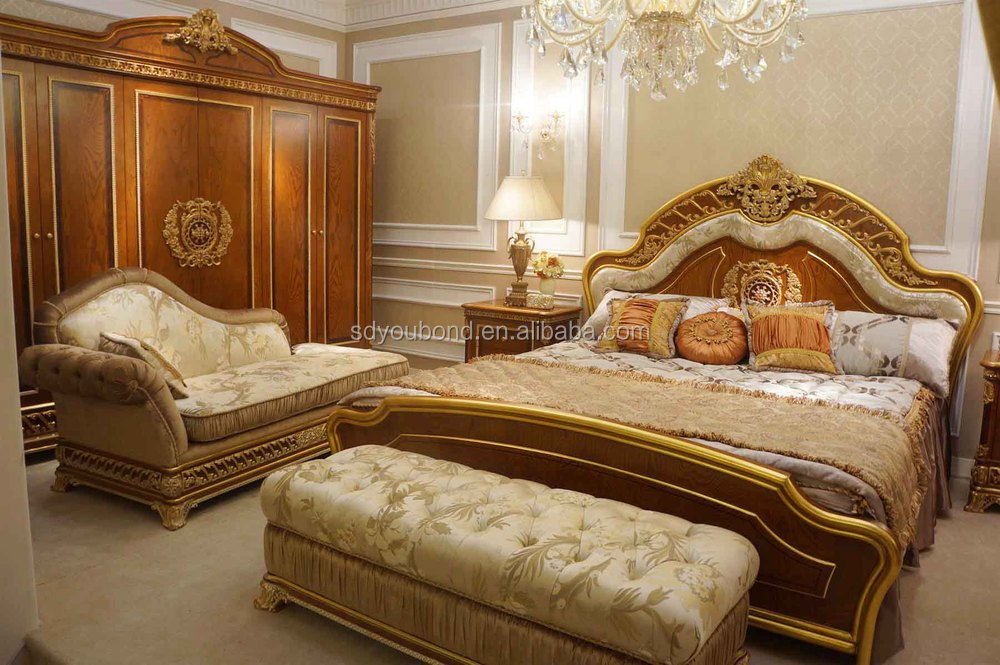 2015 0062 Italian Classical Bedroom Couch Furniture,Antique Wooden ...