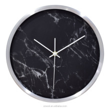 2017 New Metal wall clock with marble clock dial