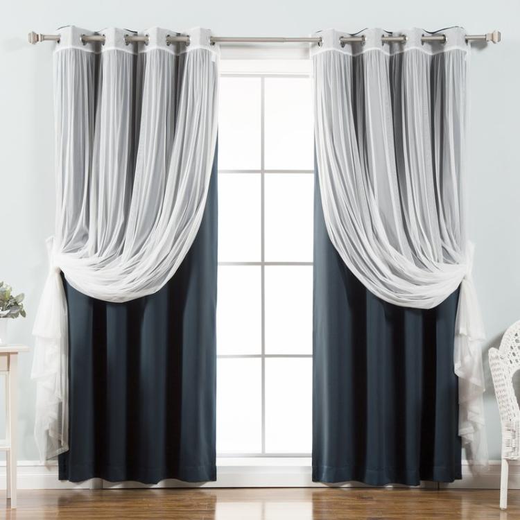 Italien élégant rideau décoratif design décor maison rideaux pour salon