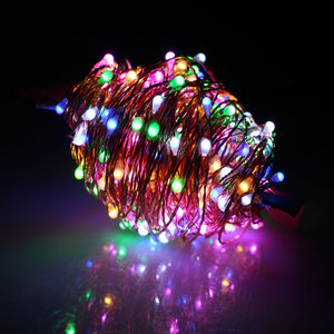 Cheap fcestival decorative low energy consume vintage 12v color changing copper wire led fairy lights