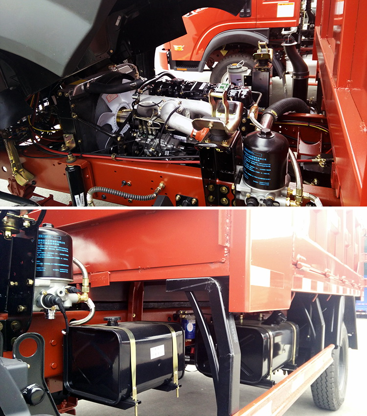 2016 China Cdw Truck 4t 4 Cylinder Tipper Sand Truck Volume ...