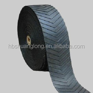 Chinese supplier best price NN nylon chevron rubber conveyor belt to transport bagged materials