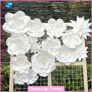 Customized handcraft wall paper flowers for decorations buy paper customized handcraft wall paper flowers for decorations mightylinksfo