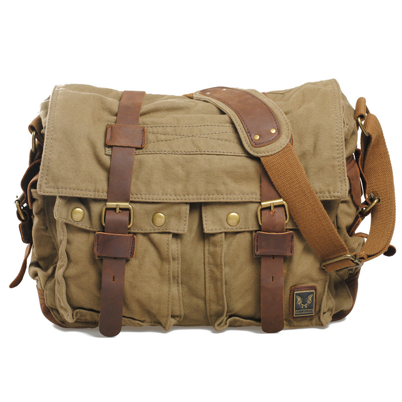 Get Quotations · Hot 2015 New brand designer high quality canvas bag  fashion black men messenger bags casual brown cbfd2f753858b