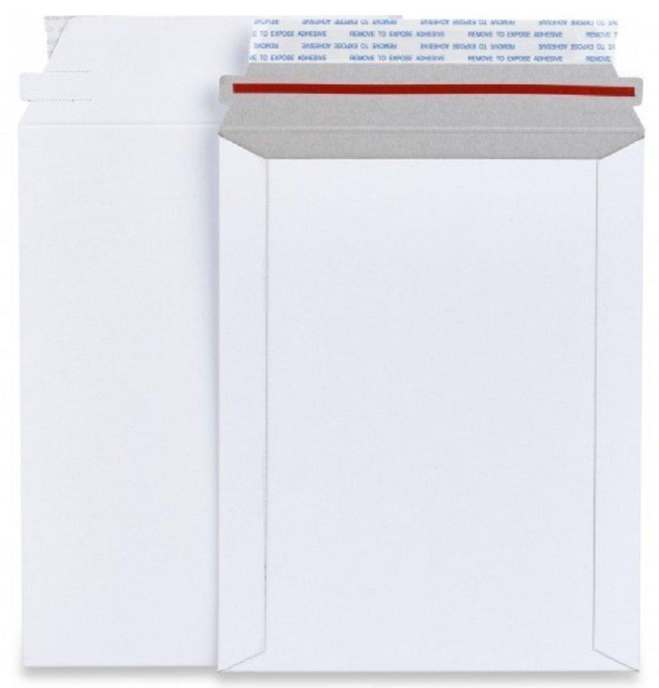 6 x 6 inch 6x6 Stay Flat Cardboard Mailer Envelopes Kraft White Peel /& Seal 200 Pack