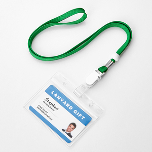 4Mm Polyester Cord Lanyard 3In 1 Neck Outdoor Gear Id Lanyard Id Badge Card Holder Eith Logo Cable With Safty Buttom