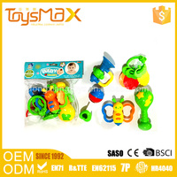 ECO-friendly ABS Plastic Educational Animal Rattle Baby Toy