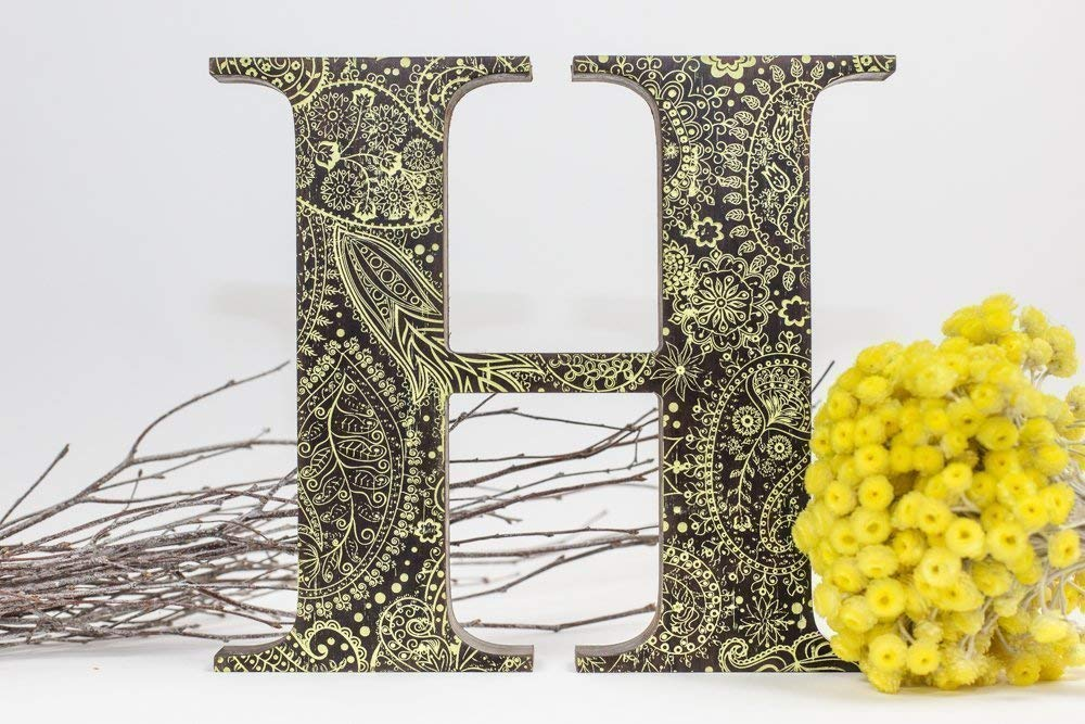 """12"""" wooden letters, Painted wooden letters, Wooden nursery letters, Wooden wall letters ,Engraved wooden letters, wooden sign, free standing letters, freestanding letters, Walnut wood letters,"""