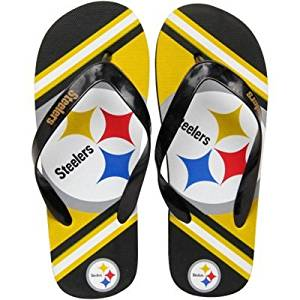 cdee881edf4b Get Quotations · Pittsburgh Steelers 2013 Unisex Big Logo Flip Flop