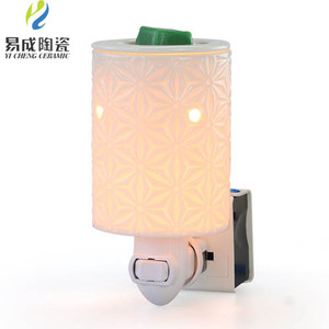 Wholesale Custom Pure Ceramic Electric Lamp Candle Night Light Warmer