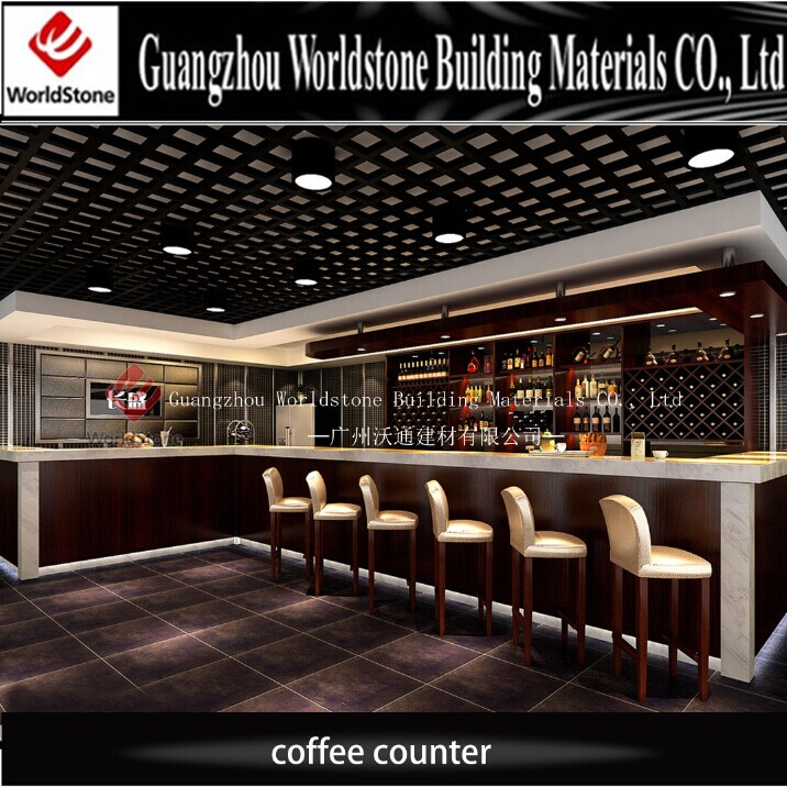 Customized Design Coffee Shop Artificial Marble Counter ...