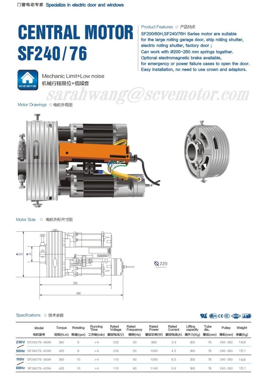 Central Motor Rolling Door Motor For Rolling Shutter
