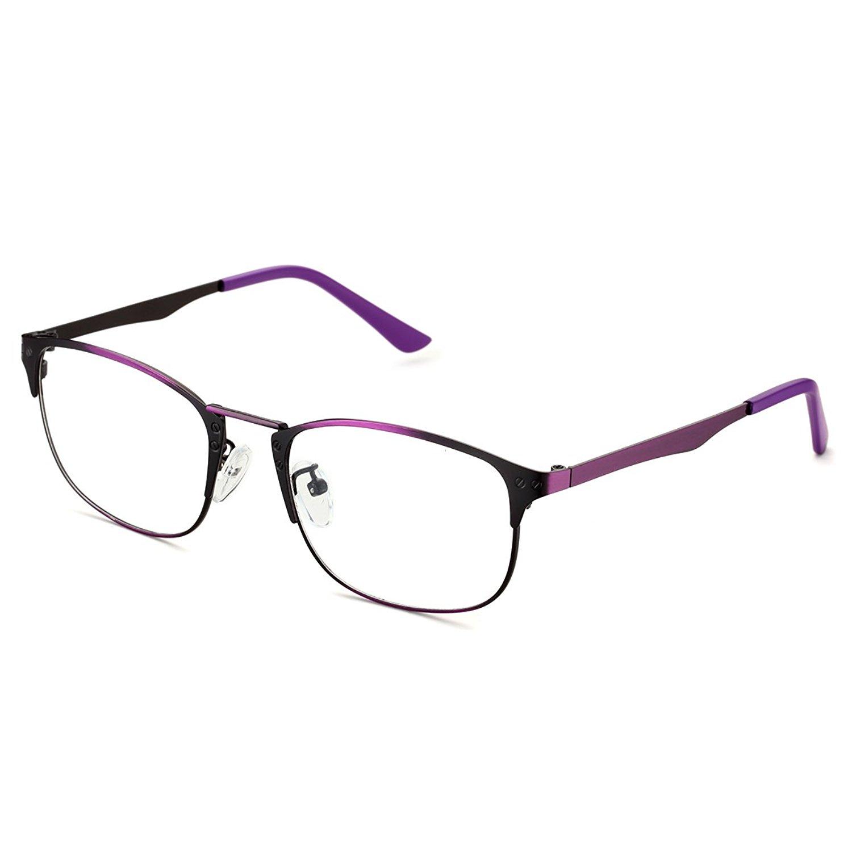 44c3670b823 Get Quotations · PenSee Optical Rectangular Square Metal Eyeglasses Eyewear  Frames
