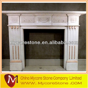 pink marble fireplace Dignified fireplace