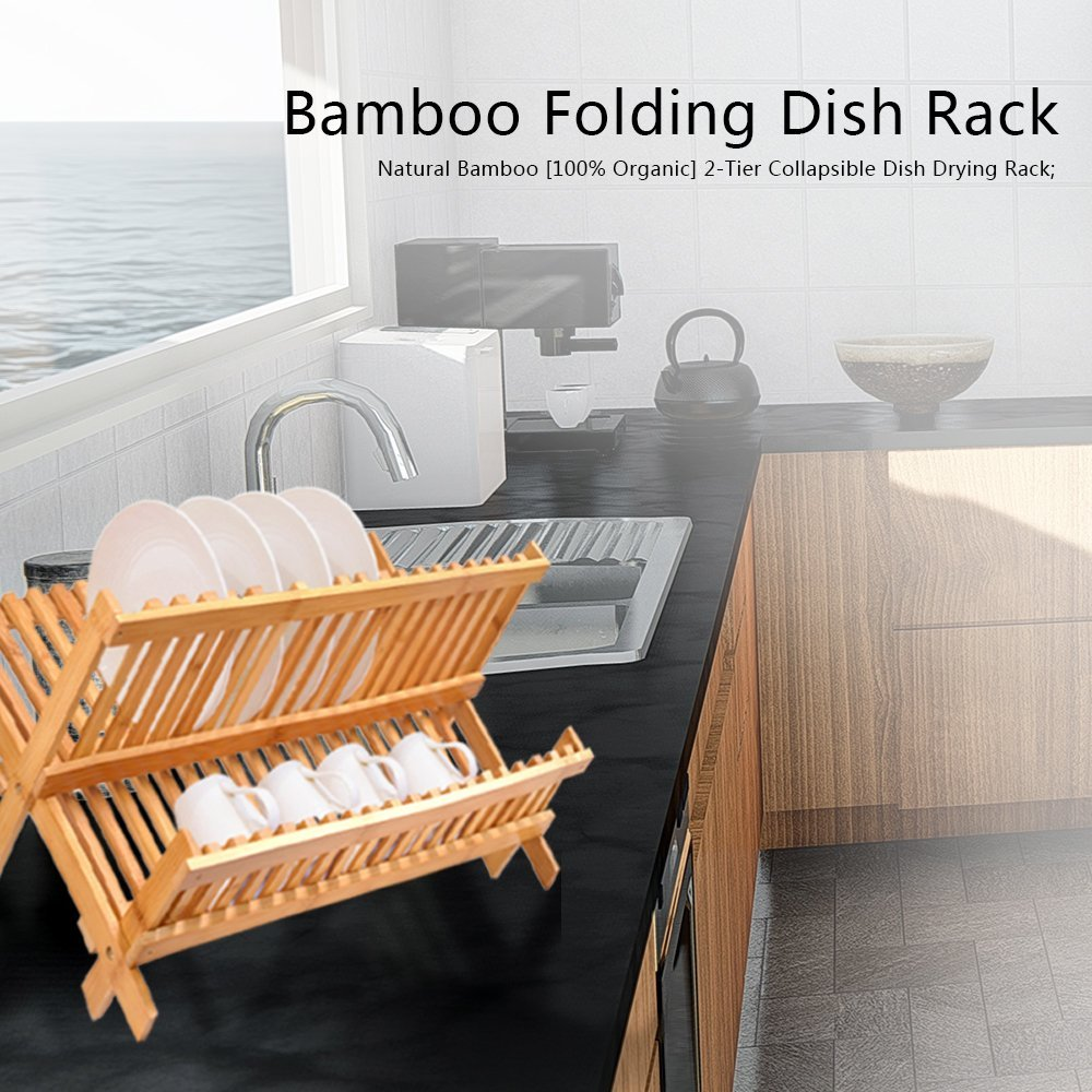 hot selling bamboo dish rack kitchen copper dish rack for high quality 3