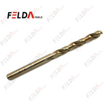 HSS Twist Drill Bits Fully Ground DIN338 Gold Finishing for Stainless Steel 135 degree split point Cobalt drill bits