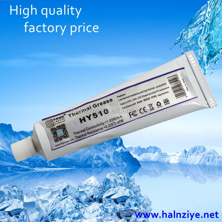 Halnziye thermal conductive grease grey silicone thermal paste for solar cell heatsink thermal compound