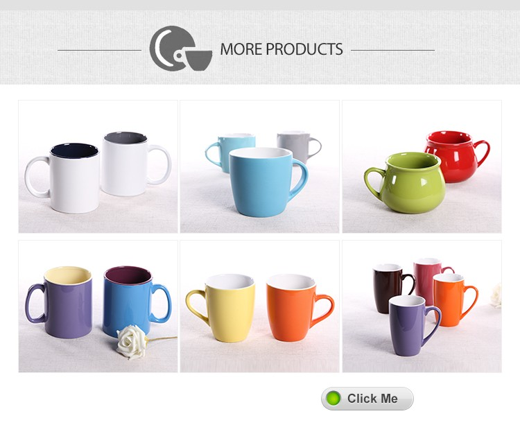 cheap stock plain white ceramic mug