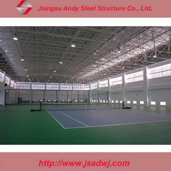 Prefab Light Steel Grid Frame Roof For Steel Structure Tennis Court ...