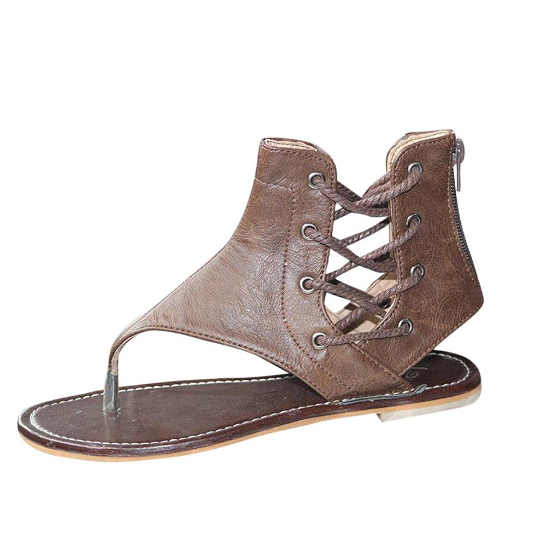 46919ac8d245 DENER Women Girls Ladies Summer Flip Flops Flat Platform Low Heel Roman  Bandage Anti Skidding Wedge