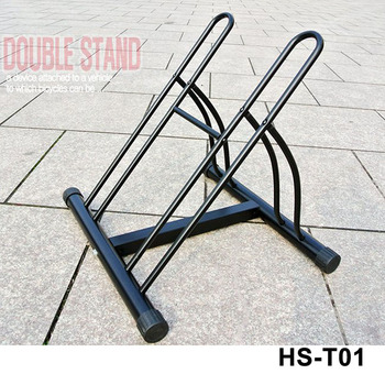 2 Bike Floor Standing Bike Stand Vertical Parking Bike Rack Stand