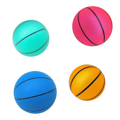 PVC toy style mini basketball customized colored basketballs