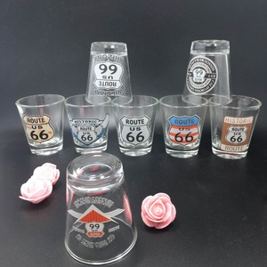 high quality cheap Promotion Decal Print Shot Glass / shot glass / souvenirs Promotion Decal Print Shot Glass