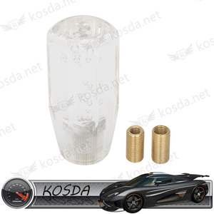 New Universal 100mm Manual Transmission Transparent Clear Crystal Bubble Drift Gear Shift knob