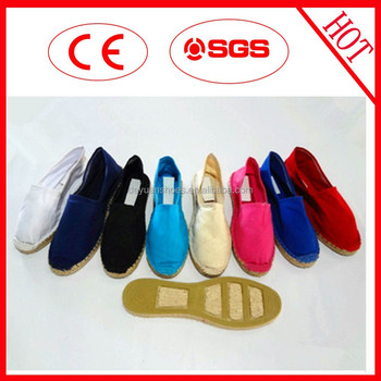2015 Newest Candy Color Casual Jute Canvas Shoes