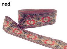 Новая роскошная кружевная тканевая тесьма, 7 ярдов/партия, Национальная вышивка, 4 см, лента ручной работы из хлопка, аксессуары для домашнег...(Китай)