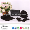 2015 new design anti-pilling fleece solid hat scarf and glove set
