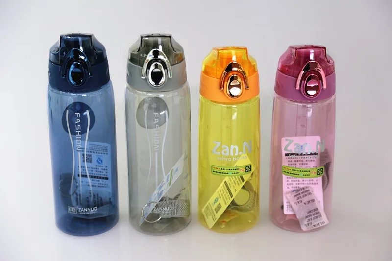 plastic sports automatic cap  water bottle