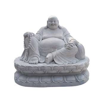 Temple Decoration Stone Carving Products Marble Laughing Buddha Statue