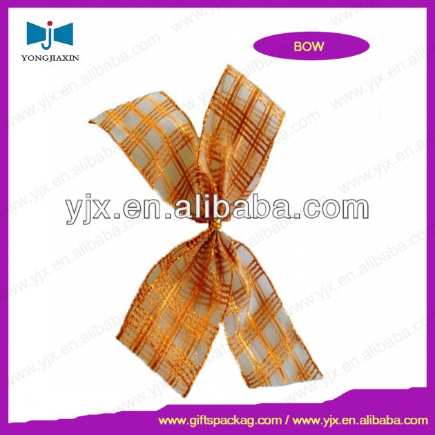 Chinese knot ribbon bow satin ribbon handmade
