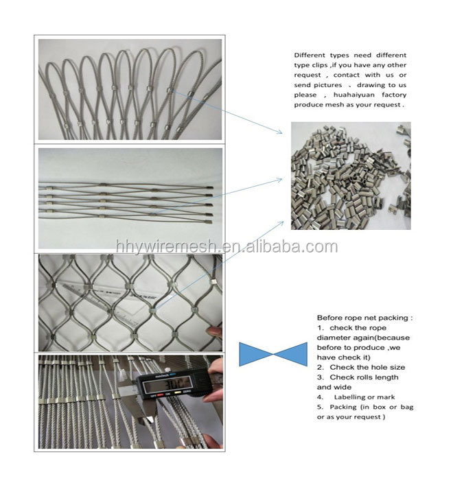 stainless steel wire rope netting bird cage animal protection zoo mesh